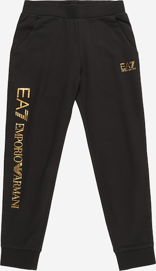 Pantaloni EA7 Emporio Armani pe galben miere / negru, Vizualizare produs