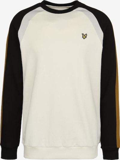 Lyle & Scott Sweatshirt 'Three Panel' in creme / gold / grau / schwarz, Produktansicht