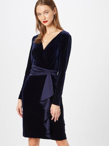 Lauren Ralph Lauren Kokteilové šaty 'KEERA' - Modrá