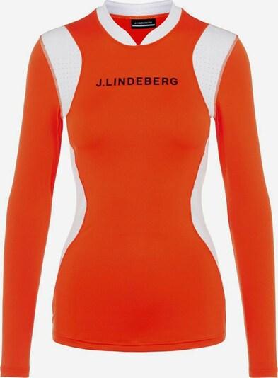 J.Lindeberg T-shirt fonctionnel 'Zowie Compression' en orange, Vue avec produit