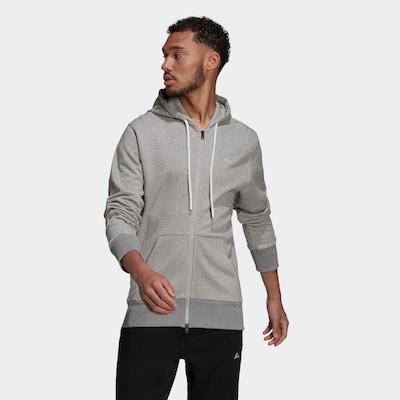 szürke / fehér ADIDAS PERFORMANCE Sport szabadidős dzsekik: Elölnézet