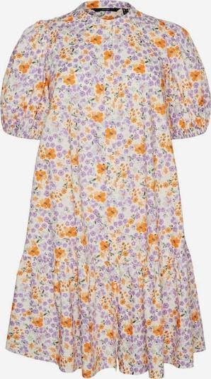 Vero Moda Curve Kleid in creme / anthrazit / helllila / orange, Produktansicht