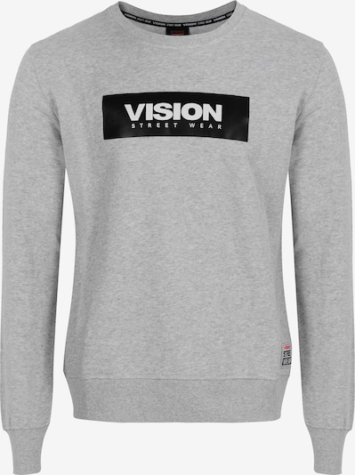 Vision Streetwear Sweatshirt in grau / schwarz / weiß, Produktansicht