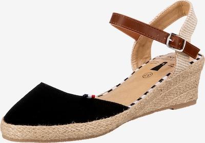 Inselhauptstadt Sandals in Beige / Brown / Black, Item view