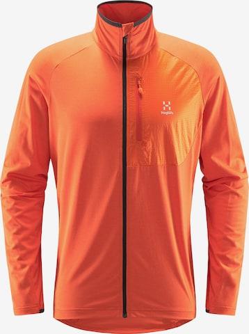 Veste en polaire fonctionnelle 'Mirre Mid' Haglöfs en orange