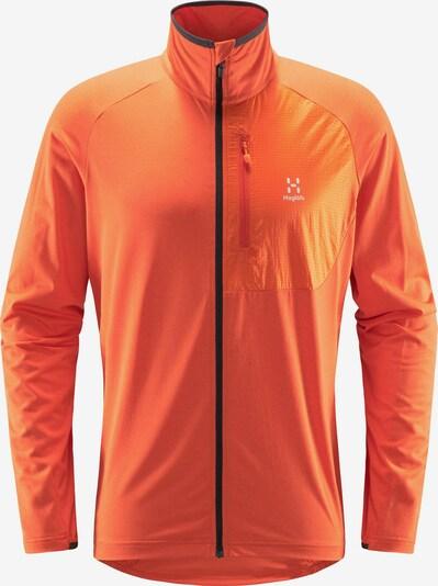 Haglöfs Funktionele fleece-jas 'Mirre Mid' in de kleur Sinaasappel / Zwart / Wit, Productweergave