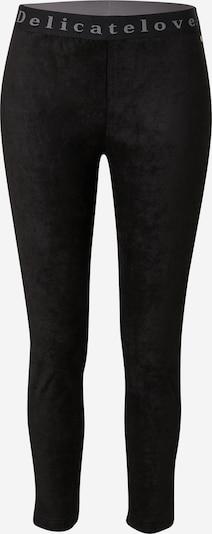 DELICATELOVE Leggings 'NELLI' in rauchgrau / schwarz, Produktansicht