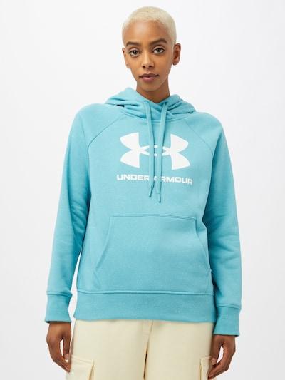 UNDER ARMOUR Sportsweatshirt in hellblau / weiß: Frontalansicht