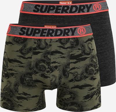 Superdry Boxershorts in de kleur Kaki / Zwart gemêleerd, Productweergave
