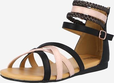 BULLBOXER Sandalen in braun / rosa / schwarz, Produktansicht