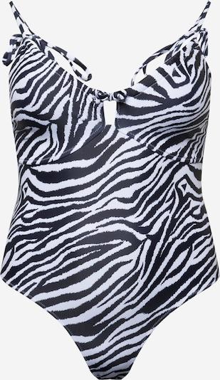 Missguided Plus Бански костюм в черно / бяло, Преглед на продукта
