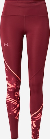 UNDER ARMOUR Workout Pants 'Fly Fast 2.0' in Red