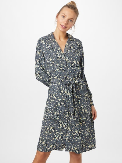 OBJECT Kleid 'FIONA' in türkis / dunkelblau / hellgelb, Modelansicht
