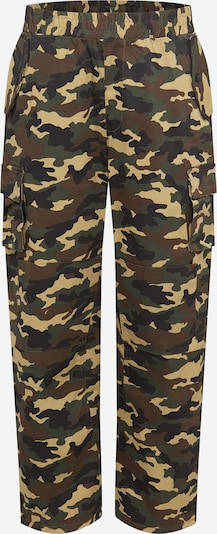 Mennace Cargo hlače u sivkasto bež / smeđa melange / tamo siva / kaki, Pregled proizvoda