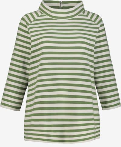 Ulla Popken Sweatshirt in grün / weiß, Produktansicht