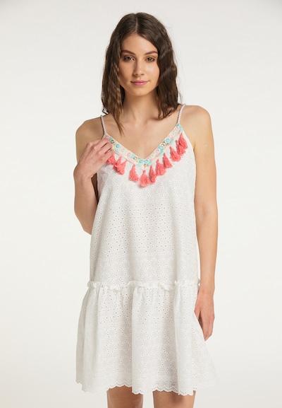 IZIA Kleid in türkis / hellrot / weiß, Modelansicht