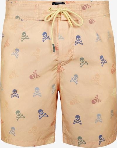 Scalpers Shorts de bain en bleu marine / pomme / orange pastel / rouge pastel, Vue avec produit