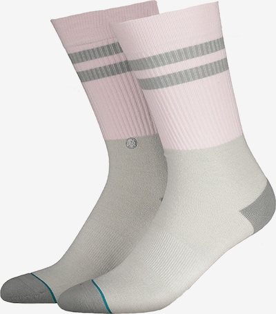 Stance Socken in grau / graumeliert / rosa, Produktansicht