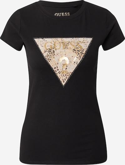 GUESS Koszulka w kolorze beżowy / złoty / czarnym, Podgląd produktu
