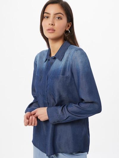 TOM TAILOR Bluse in blau / taubenblau, Modelansicht