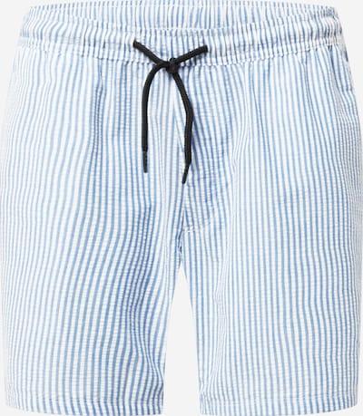 Pantaloni 'Ian' Redefined Rebel pe azuriu / alb, Vizualizare produs