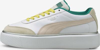 PUMA Sneaker 'Oslo Maja OQ' in gelb / grün / weiß, Produktansicht