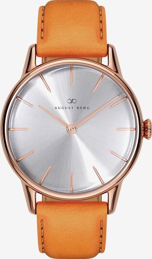 August Berg Uhr 'Serenity Simply Leather 32mm' in orange / silber, Produktansicht