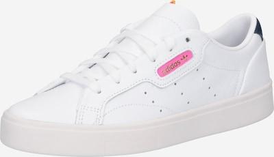 ADIDAS ORIGINALS Baskets basses 'Sleek' en bleu marine / rose / blanc, Vue avec produit