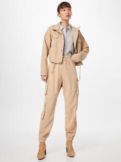 Missguided Kargo hlače | kremna barva