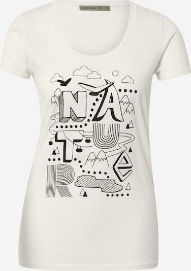 Icebreaker T-shirt fonctionnel 'Scoop Nature' en noir / blanc, Vue avec produit