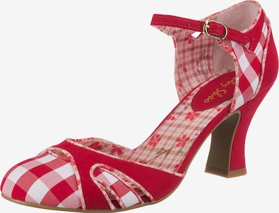 Ruby Shoo Sandalette 'Jeraldine' in rot / weiß, Produktansicht