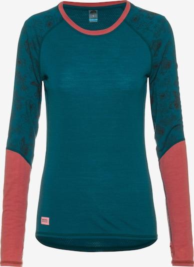 Mons Royale Shirt 'Bella Tech' in blau / pink / schwarz, Produktansicht