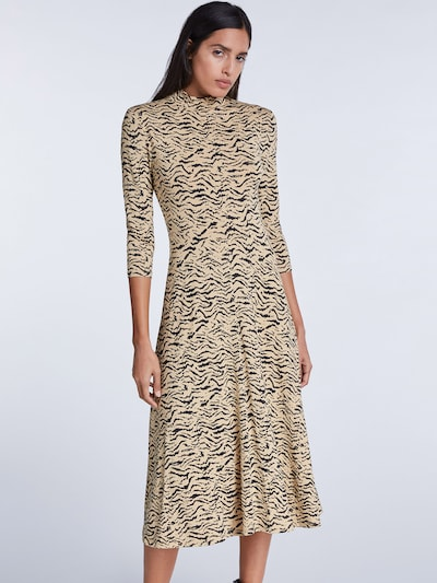SET Kleid in beige / schwarz, Modelansicht