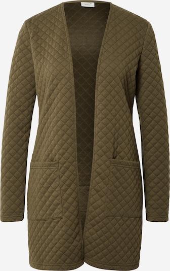JDY Gebreid vest 'Napa' in de kleur Olijfgroen, Productweergave