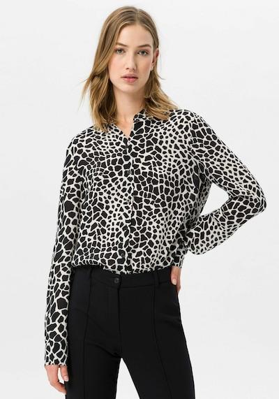 Uta Raasch Bluse Hemdkragen in beige / schwarz, Produktansicht