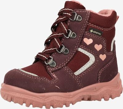 SUPERFIT Stiefel in rosa / weinrot / silber, Produktansicht