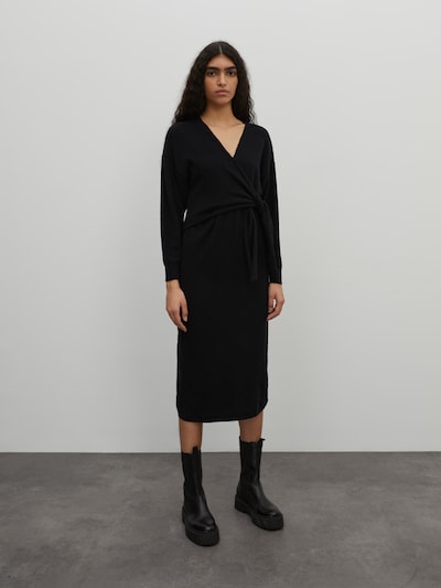 EDITED Strickkleid 'Lena' in schwarz, Modelansicht