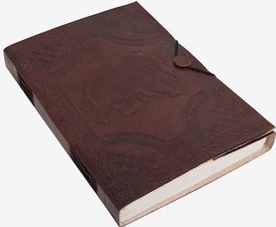 Gusti Leder Notizbuch Skizzenbuch 'Madlyn' in braun, Produktansicht
