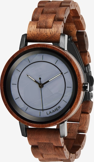 LAiMER Uhr 'Kristina' in rauchblau / braun / schwarz, Produktansicht