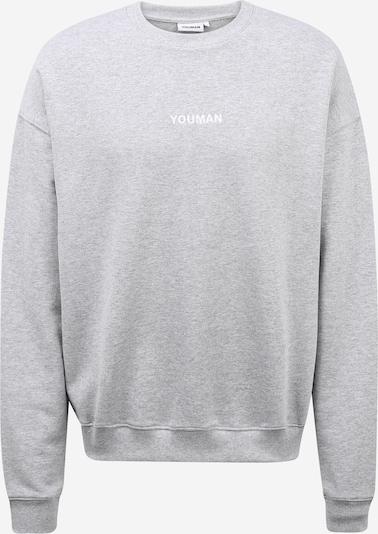 Youman Sweater majica 'Casper' u siva melange, Pregled proizvoda