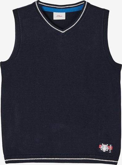 s.Oliver Trui in de kleur Donkerblauw / Bloedrood / Wit, Productweergave