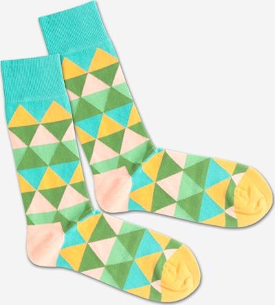 DillySocks Chaussettes 'Triangle Summer' en mélange de couleurs, Vue avec produit