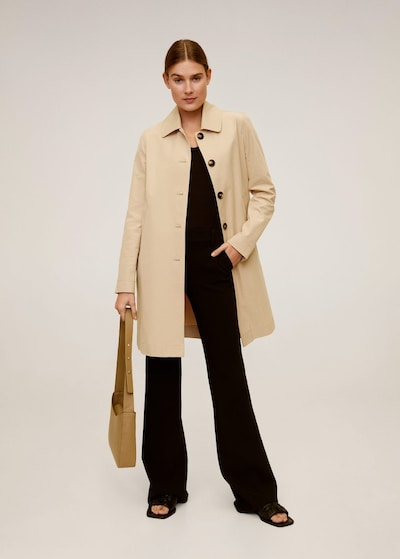 MANGO Trenchcoat double in beige, Modelansicht