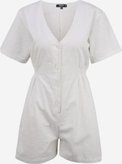 Missguided Petite Jumpsuit en blanco, Vista del producto