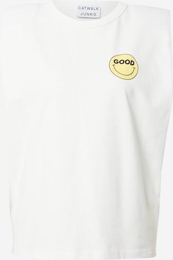 CATWALK JUNKIE Top 'SO GOOD' in gelb / schwarz / weiß, Produktansicht