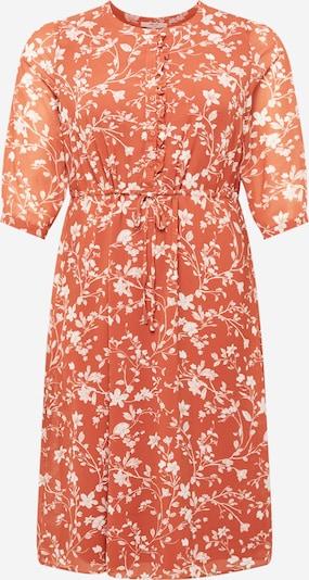 ABOUT YOU Curvy Kleid 'Gwen' in orange / weiß, Produktansicht