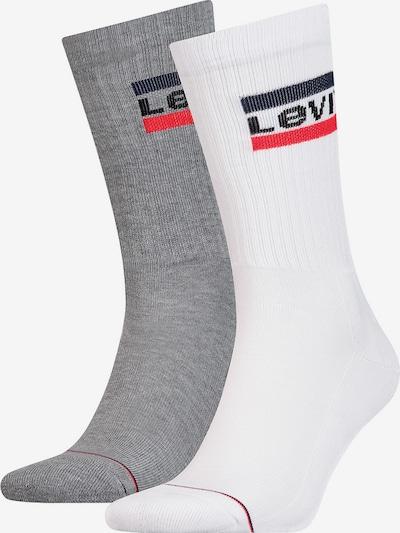 LEVI'S Socken in grau / rot / weiß, Produktansicht
