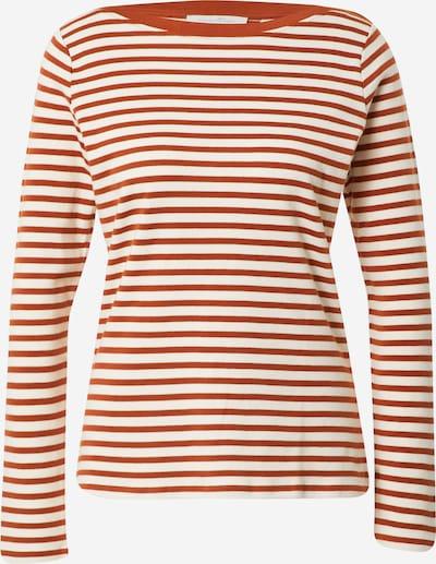 TOM TAILOR DENIM Shirt in braun / weiß, Produktansicht