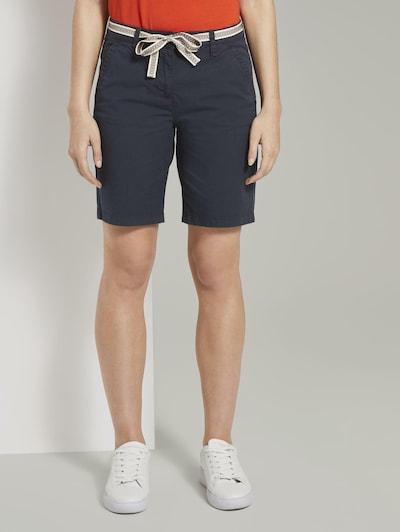 TOM TAILOR Shorts in dunkelblau, Modelansicht