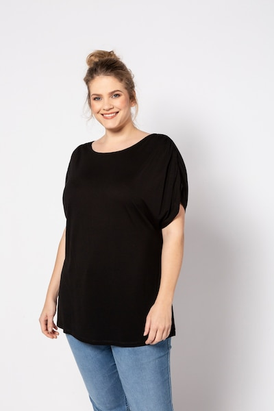 Ulla Popken Shirt in schwarz: Frontalansicht
